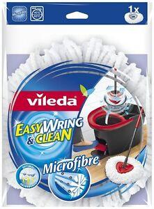 Vileda Easy Wring and Clean Microfibre Mop Refill Head Optimal Absorbent-134301