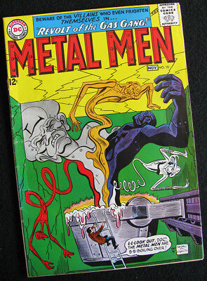 METAL MEN 10 (1964) THE DEADLY GAS GANG RETURNS! VG/FN! LOTS OF LARGE PHOTOS!