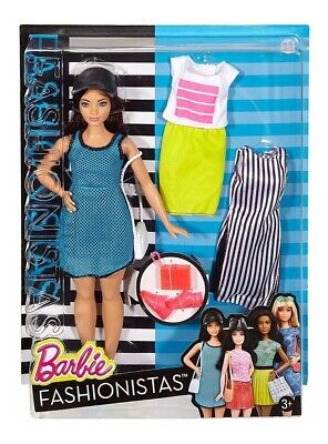 Barbie Fashionistas 38 with fashions NRFB.