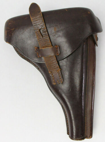 WWI Military Collectible 1916 Luger Brown Leather Holster Berlin
