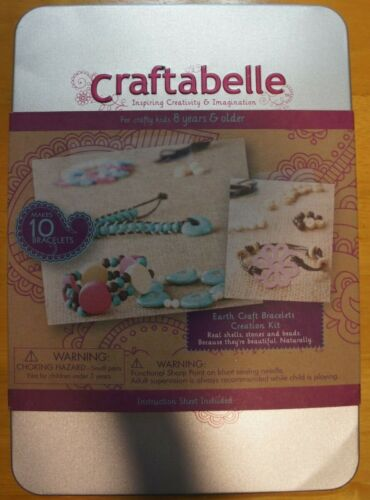 Craftabelle Earth Craft Bracelets Creation Kit Makes 10 Bracelets Jewelry 8yrs+