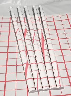 5 Pc 12 Diameter Half 12 Round 12 Long Clear Acrylic Plexiglass Lucite Rod