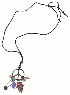 Rub - Kostüm Zubehör Halskette Kette Peace Hippie Karneval - Hippie Kostüm Halskette