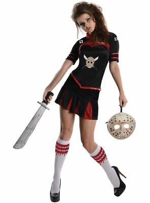 Jason Voorhees Cheerleader Style Ladies Outfit Licensed Friday the 13th Size Sma ()
