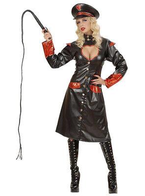Widmann The Punisher Sexy Officer Uniform Fancy Dress Costume Black Leather Look