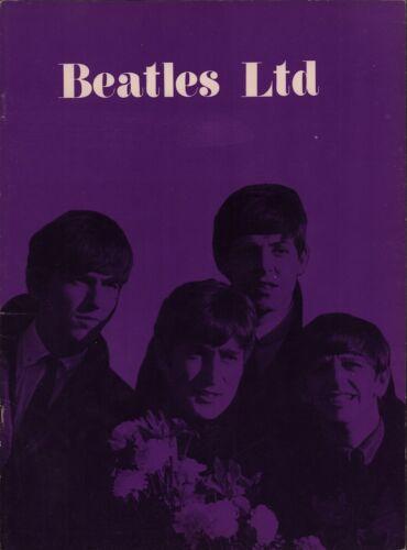 THE BEATLES LTD. 1964 MEET THE BEATLES U.S. TOUR PROGRAM BOOK BOOKLET / EX 2 NM