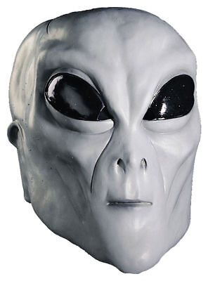 Morris Costumes Adult Unisex Alien Latex Mask Grey One Size. MI9812 - Grey Alien Mask