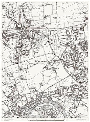 Ealing, Acton, Brentford Map 1888 Gtr London #14