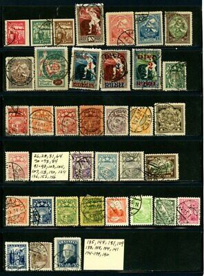 Latvia outstanding selection of 36 Used Stamps - CV=$16.80 - See Scan for #'s