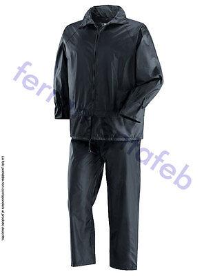 COSTUME IMPERMÉABLE BLEU COUPE-VENT IMPÉRMEABLE VESTE PANTALON TRAVAIL (Veste Costume Bleu)
