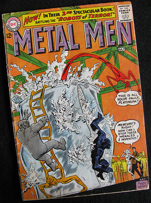 METAL MEN 2 (1963) MUCH BETTER THAN A READER'S COPY! NICE LARGE PHOTOS!