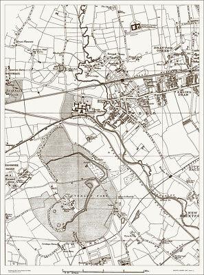 Hanwell, Osterley Park Map 1888 Gtr London #13
