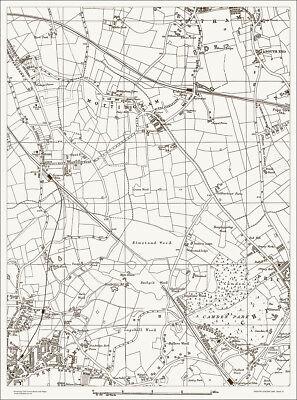 Mottingham Old Map 1888 Gtr London #41 Repro