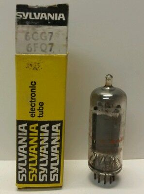 6CG7 6FQ7 Packard Bell Electronic Vacuum Tube Radio TV Tubes In Sylvania Box (Sylvania-box)