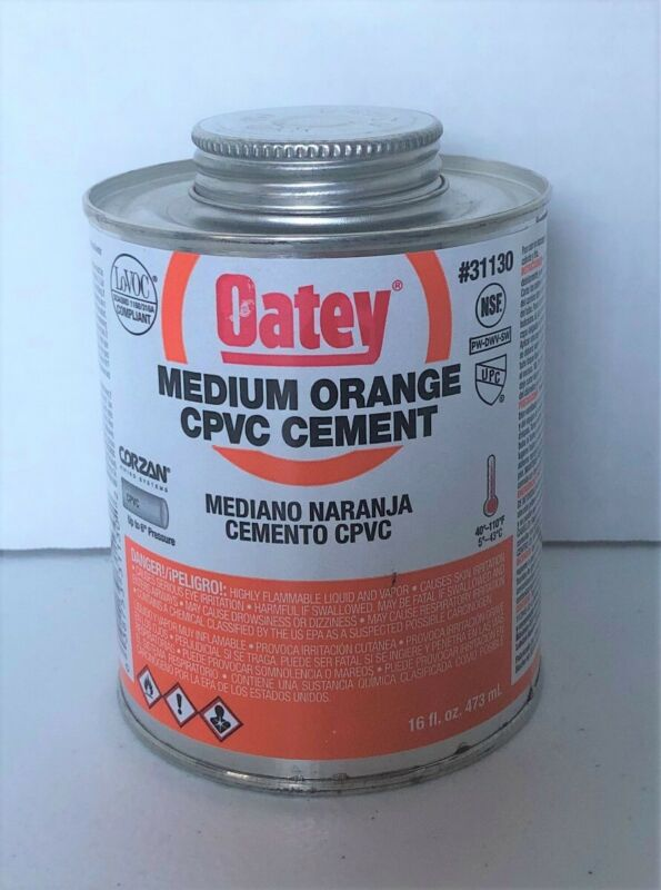 Oatey Medium Orange CPVC Cement #31130 16 Fl. Oz.