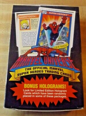 1990 Impel Marvel Universe Series 1 , Cards 36 Packs,  Unsealed Full Box