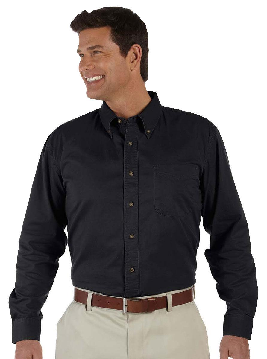 cb24788ec2d Devon   Jones Men s Long Sleeve Roll Collar Titan Twill Button Down Shirt.  D500