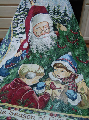 Santa Claus Christmas 43 x 65 Blanket Throw Wall Hanging Betty Smith Whiteaker