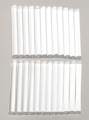 24 Pc 38 Od X 3 Long Clear Acrylic Plexiglass Lucite Rod Dowels .375 Diameter