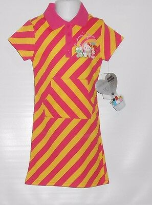 Girls Village (Hello Kitty Stump Village by Sanrio Girls Short Sleeve Striped Dress Yellow 5)
