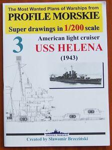 USS HELENA American Light Cruiser 1943 - Plans of Warships/Baupläne 1:200 - <span itemprop=availableAtOrFrom>Reda, Polska</span> - Zwroty są przyjmowane - Reda, Polska