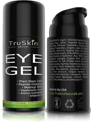 TruSkin Best Eye Gel for Wrinkles, Fine Lines, Dark Circles, Puffiness, (Best Eye Gel For Fine Lines)