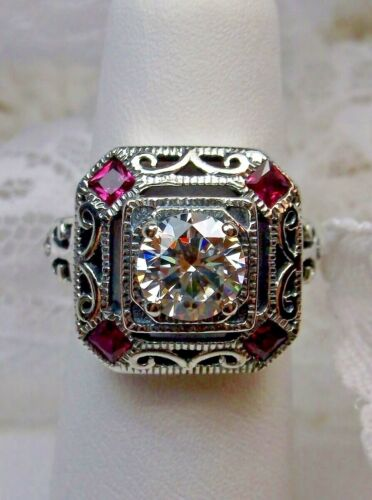 Ruby Ring, Art Deco 1930