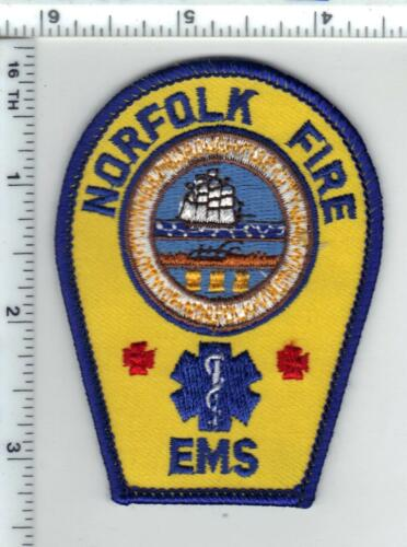 Norfolk Fire - EMS (Virginia) Shoulder Patch from the 1980