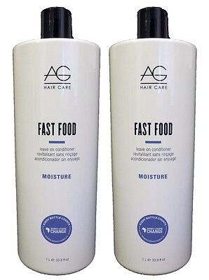 Ag Fast Food Leave (AG - Fast Food Leave-in Conditioner 33oz [PACK OF 2!] )