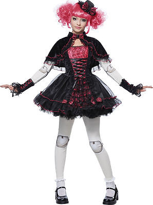 Victorian Doll Costume for Girls (all sizes) New by California Costumes