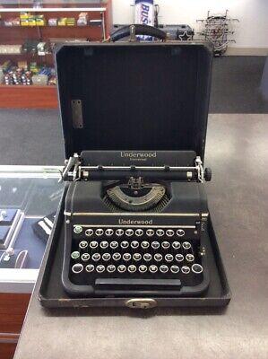 1939 Underwood Universal Portable Typewriter With Case, Rare Keys (LIN023800)