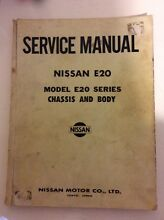 Nissan E20 Chassis & Body Service Manual Armidale City Preview