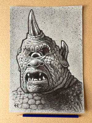 Original Art: Ink drawing of The Cyclops from 'The Golden Voyage of Sinbad'