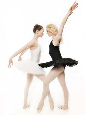 Black Or White Swan Halloween Ballet Fancy Dress Costume Tutu Outfit All Sizes (Black Swan Halloween Outfit)