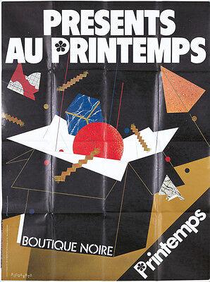 Original Vintage Poster Printemps Paris French Boutique Fashion 1980