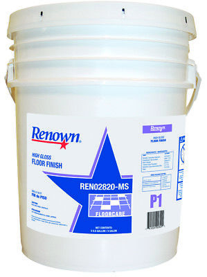 Gloss 5 Gallon Pail - RENOWN® HIGH-GLOSS FLOOR FINISH, 5 GALLON, 1 PAIL