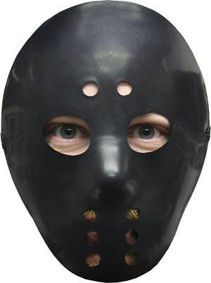 Morris Costumes Black Hockey Mask For Christmas, Santa & New Year. 10552](Santa For Halloween)