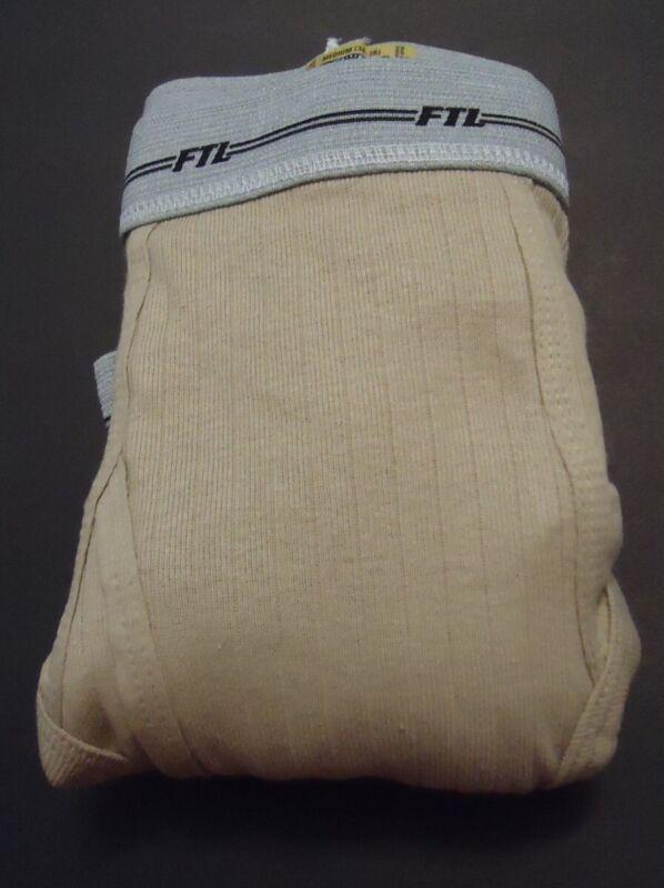 Vtg Fruit of the Loom M 34-36 Preshrunk Cotton Ribbed Briefs USA Made 3 pr NOS