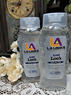L.A. Looks Wet Look Gel, Hold Level 10, LARGE 20-Ounce (2 Pack)