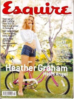 Heather Graham Ray Winstone Fiona Allen Anthony Bourdain ESQUIRE MAGAZINE vtg UK