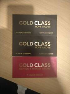 2 Gold Class tickets with 30 dollar food voucher -$ 80