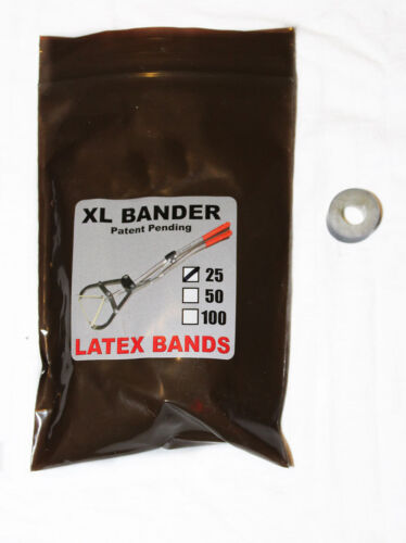 XL Bander  Bands 25ct Castrate Bulls Goats Fast Easy Use XL Bander 250-750lbs