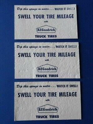 Vintage 1950's ADVERTISING 3 Sponges/Ink Blotters - B.F. GOODRICH TRUCK TIRES