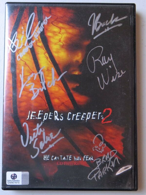 Jeepers Creepers 2 Cast Signed Autographed DVD Cover Wise Breck GV907870