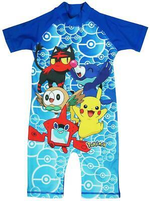 Jungen Pokemon Kostüm Sonnenschutz Alles in One Surf Badeanzug Sunsuit 1.5 To - Alle Pokemon Kostüm