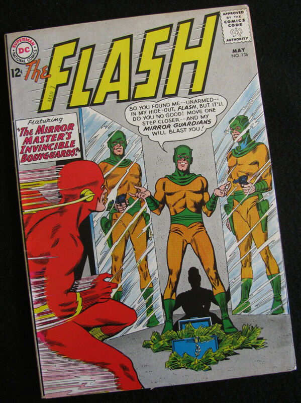 FLASH 136 (1963) TWO GREAT SILVER AGE FLASH STORIES! LOTS OF PHOTOS! VF-