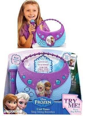 Disney Frozen Boom Box Sing Along Microphone Play Let It Go Song Mp3 Player Jack