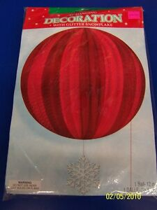 Red-White-Snowflake-Winter-Christmas-Holiday-Party-Hanging-Globe-Decoration