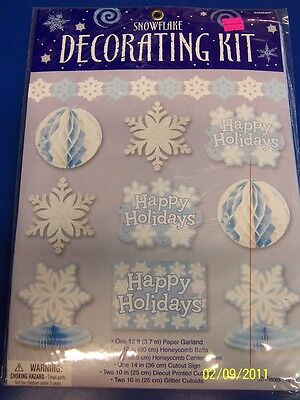 Snowflake Decorating Kit Winter Christmas Holiday Party Banquet Decorations