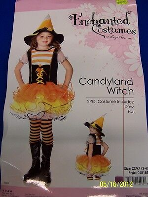 2 pc. Candyland Witch Candy Korn Cute Dress Up Halloween Child Costume w/Hat](Candy Land Halloween Costume)